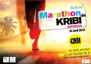 Affiche marathon de Kribi